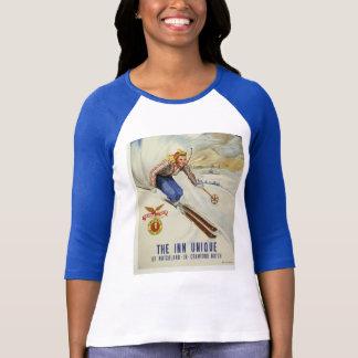 Retro Ski Art T-Shirt