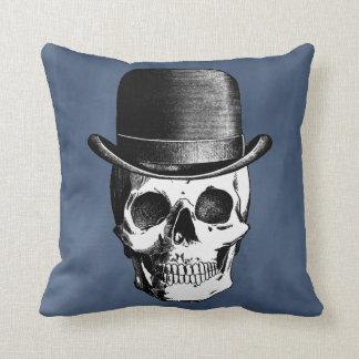 Retro Skull Head Throw Pillow