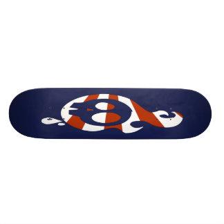Retro Skull - Navy Skateboard Deck