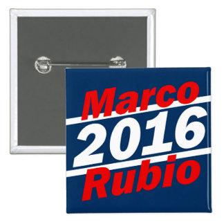 Retro Slant Marco Rubio 2016 Campaign 2 Inch Square Button