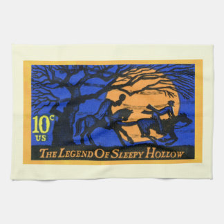 Retro Sleepy Hollow Stamp Kitchen Towel