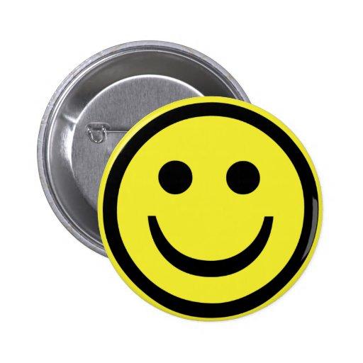 retro Smiley face Button