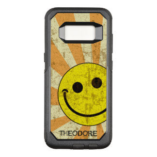 Retro Smiley Sunburst Name Template OtterBox Commuter Samsung Galaxy S8 Case