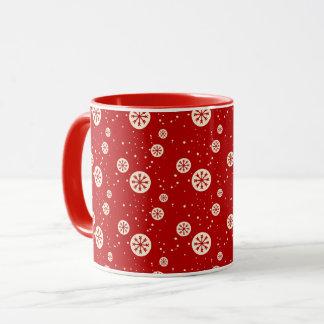 Retro Snowflakes Holiday Coffee Mug