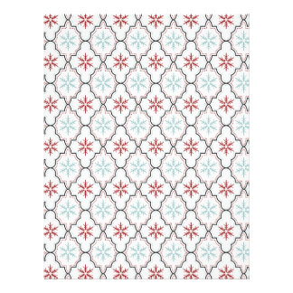 Retro Snowflakes Scrapbook Paper Customized Letterhead