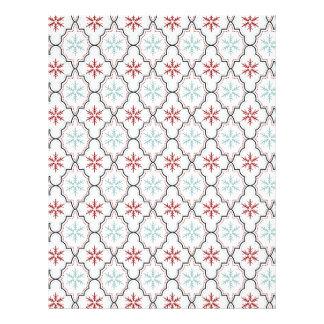 Retro Snowflakes Scrapbook Paper Custom Letterhead