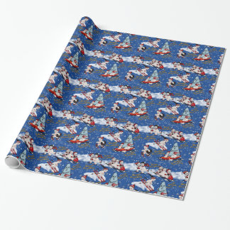 Retro Snowmen, 6 Pt star and Hanukkah Greetings Wrapping Paper