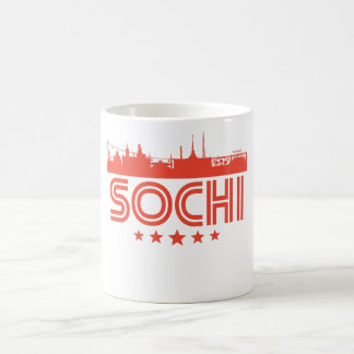 Retro Sochi Skyline Coffee Mug