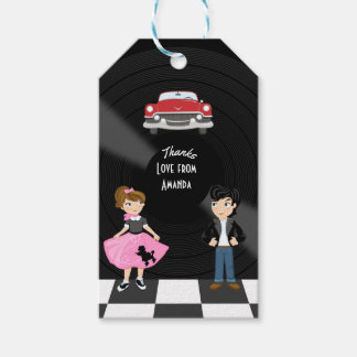 Retro Sock Hop Birthday Party Gift Tags