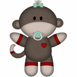 Retro Sock Monkey Baby Photo Cutouts