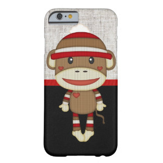 Retro Sock Monkey Barely There iPhone 6 Case