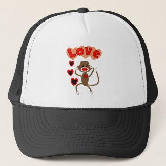 Retro sock monkey LOVE Trucker Hat