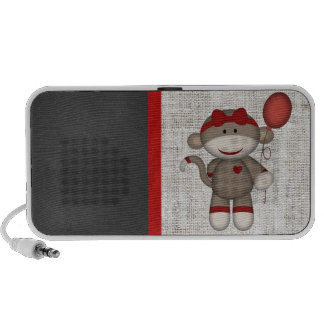 Retro Sock Monkey Mp3 Speaker