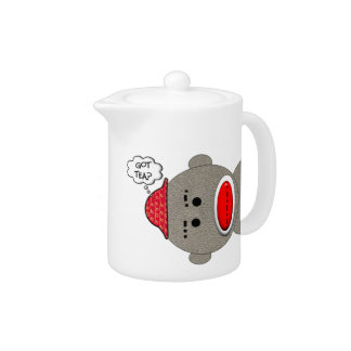 Retro Sock Monkey Teapot
