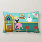 Retro Soda Fountain Lumbar Pillow