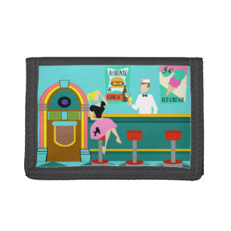 Retro Soda Fountain Nylon Wallet