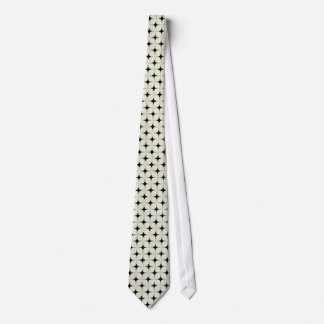 Retro Sophistication Tie, Black and Ivory Tie