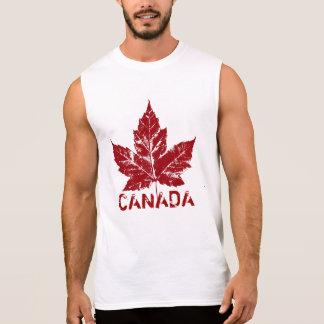 Rétro souvenir de feuille d'érable du Canada de T-shirt Sans Manches