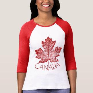 Rétro souvenir frais de feuille d'érable du Canada Tee Shirts
