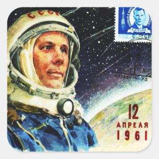 RETRO SPACE AGE 1960's Square Stickers