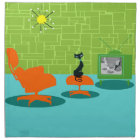 Retro Space Age Kitty Cloth Napkins