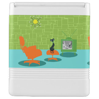 Retro Space Age Kitty Igloo Can Cooler