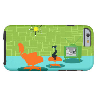 Retro Space Age Kitty iPhone 6 Case