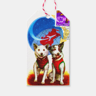 RETRO SPACE AGE (VINTAGE ASTRONAUT DOGS) PACK OF GIFT TAGS