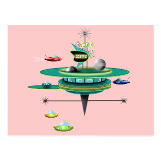 Retro Space Diner Postcard