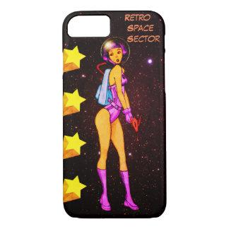 Retro Space Girl Colored Case-Mate iPhone Case