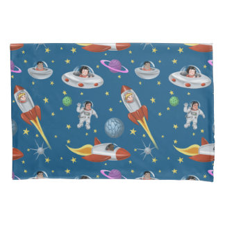 Retro Space Kids Pillowcase