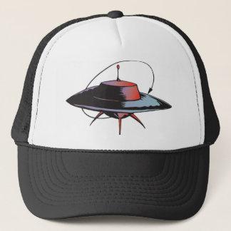 Retro Spacecraft Trucker Hat