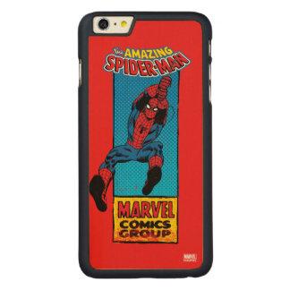 Retro Spider-Man Comic Graphic Carved Maple iPhone 6 Plus Case