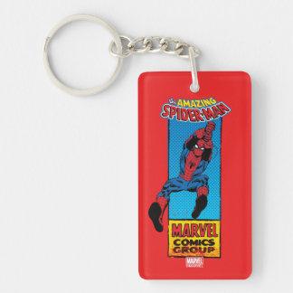 Retro Spider-Man Comic Graphic Keychain
