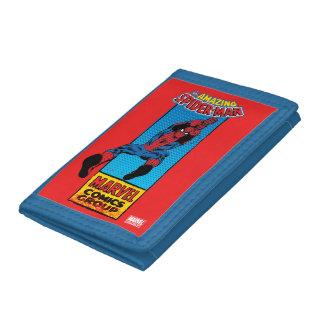 Retro Spider-Man Comic Graphic Trifold Wallets