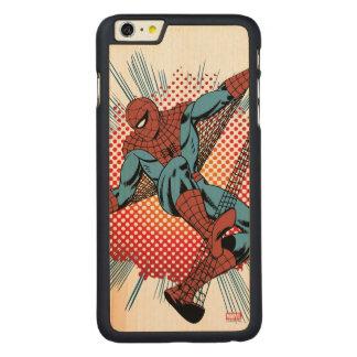 Retro Spider-Man Spidey Senses Carved Maple iPhone 6 Plus Case