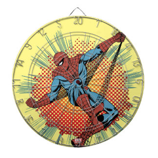 Retro Spider-Man Spidey Senses Dartboard With Darts