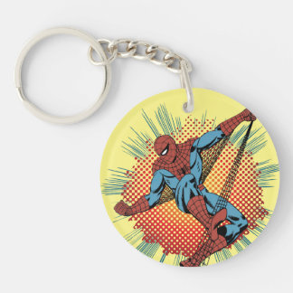 Retro Spider-Man Spidey Senses Double-Sided Round Acrylic Keychain