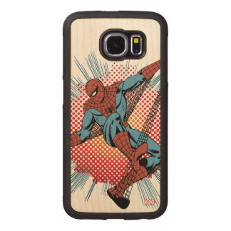 Retro Spider-Man Spidey Senses Wood Phone Case