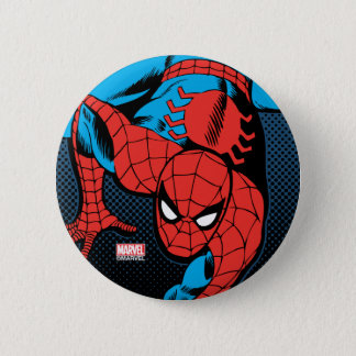 Retro Spider-Man Wall Crawl 2 Inch Round Button