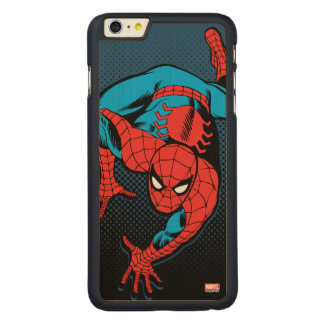 Retro Spider-Man Wall Crawl Carved® Maple iPhone 6 Plus Case