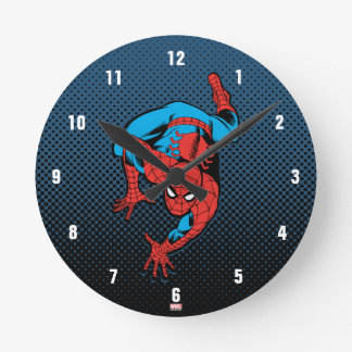 Retro Spider-Man Wall Crawl Clocks
