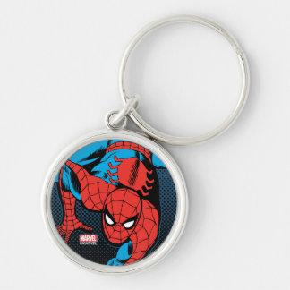 Retro Spider-Man Wall Crawl Keychain