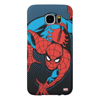 Retro Spider-Man Wall Crawl Samsung Galaxy S6 Cases