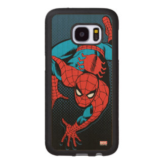 Retro Spider-Man Wall Crawl Wood Samsung Galaxy S7 Case