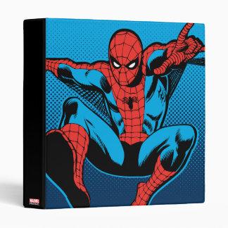 Retro Spider-Man Web Shooting 3 Ring Binder