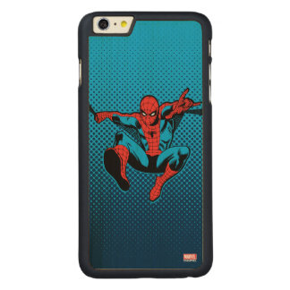 Retro Spider-Man Web Shooting Carved Maple iPhone 6 Plus Case