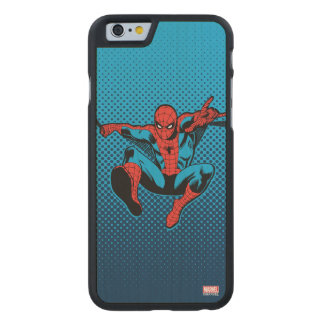 Retro Spider-Man Web Shooting Carved® Maple iPhone 6 Slim Case