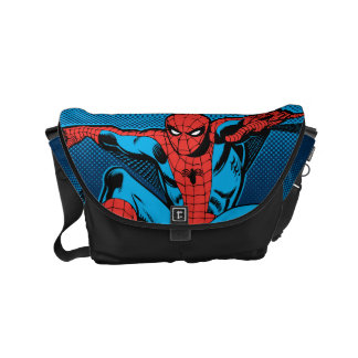 Retro Spider-Man Web Shooting Courier Bags