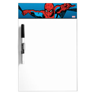 Retro Spider-Man Web Shooting Dry Erase Board